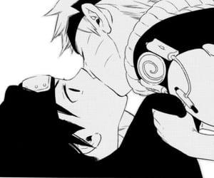 anime, ship, and sasunaru image