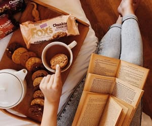 books, chill, and coffee image