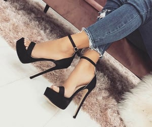 black heels, girly things, and fashion image