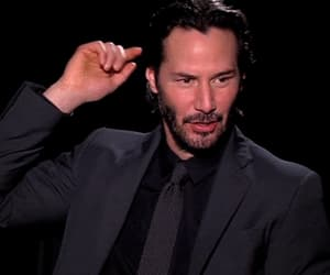 gif, handsome, and keanu reeves image