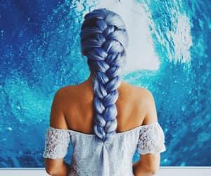 blue hair and mermaid hair image
