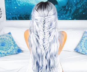 fishtail braid and mermaid hair image