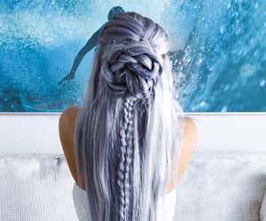 mermaid hair and flower braid image