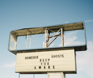 sign, ghost, and homesick image