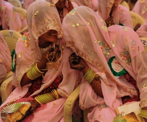 pink, india, and indian image