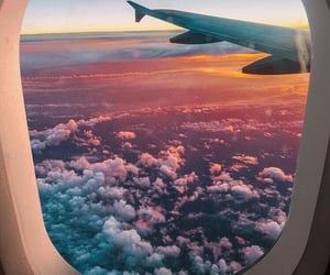 travel, airplane, and adventure image