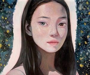 art, artwork, and asian girl image