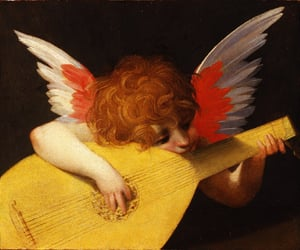 art, angel, and music image