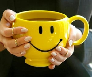 smile, happy, and mug image