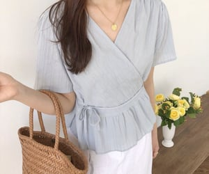 aesthetic, white, and cute outfit image