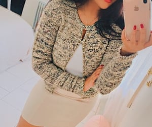 beige, cardigan, and outfit image