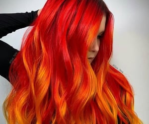 colored hair, hair color, and hair image