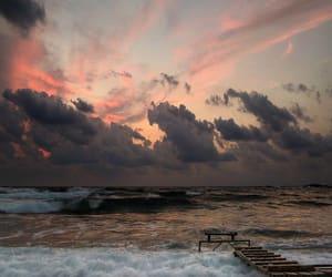 sky, sea, and ocean image