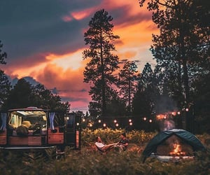 couple, camping, and nature image