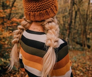autumn, hair, and girl image