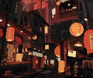 festival, lanterns, and train image