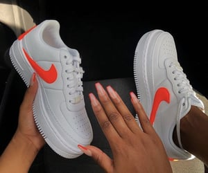 nike, nails, and shoes image