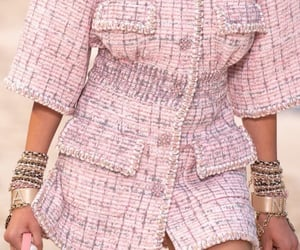 pink coco chanel, mood vision board, and fashion style collection image