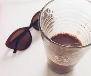 glasses, milk chocolate, and pleasures image