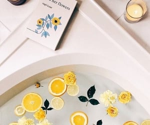 yellow, aesthetic, and bath image