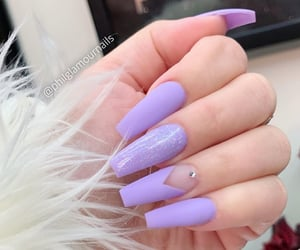 glitter, long nails, and nails image