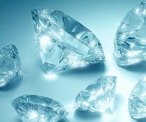 aesthetic, blue, and diamond image
