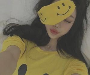 yellow, asian, and girl image