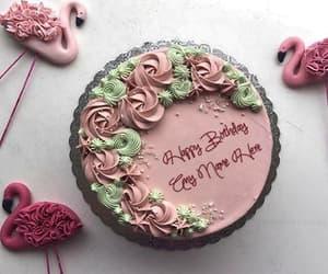 happy birthday cake, elegant cake, and birthday cake with name image