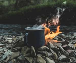 nature, coffee, and fire image