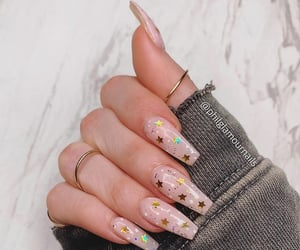nails, stars, and Nude image