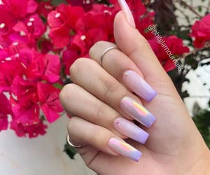 hand, long nails, and nails image