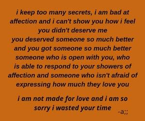 broken, broken love, and feelings image