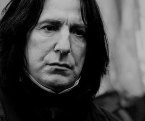 alan rickman, black and white, and gryffindor image