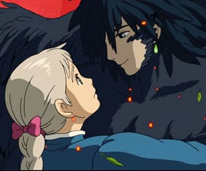 anime, gif, and howls moving castle image