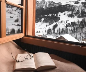 book, decor, and glasses image