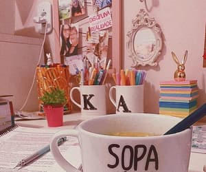college, mugs, and notebook image