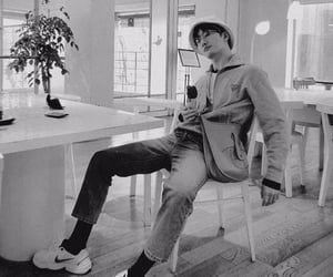 asian, zhoumi, and black and white image