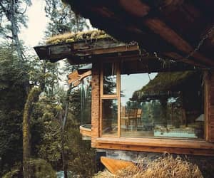 cabin, mountain living, and forest image