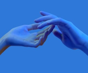 blue, colors, and hands image
