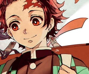 anime, tanjirou kamado, and couple image