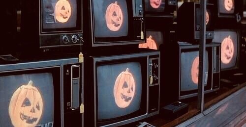 Halloween, grunge, and tv image