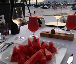 watermelon, food, and drink image