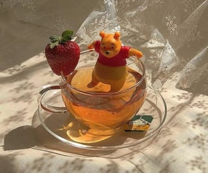 tea, strawberry, and drink image