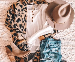 boots, fashion, and cardigan image
