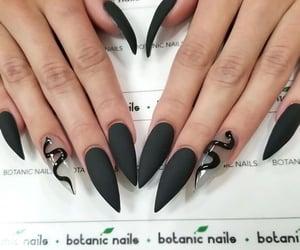 nails, black, and snake image