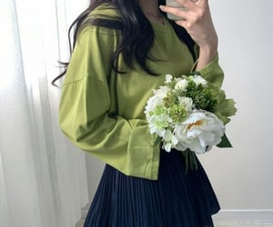 flowers, green, and look image