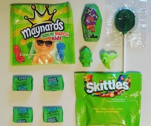candy, green, and lollipop image