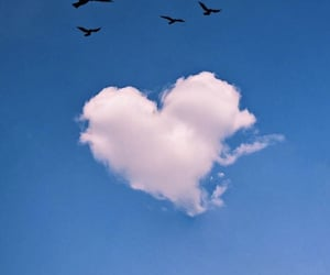 blue, clouds, and heart image