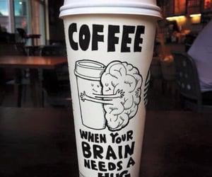 coffee, hug, and brain image