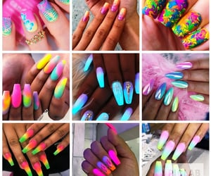 brightcolors, lovethese, and nailsalon image